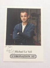 MICHAEL LE VELL (CORONATION STREET) Printed CAST CARD