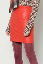 New! Amazing GORMAN Red Leather skirt * size 12