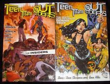 Teen Titans Outsiders Insiders Death Return Donna Troy 2 Set DC Comics Paperback