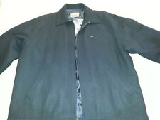 Haggar Mens Wool Blend Coat Jacket Black Size Large New With Tags