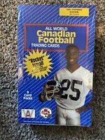 1991 All World Canadian Football League, Premiere Edition, Factory Sealed Box