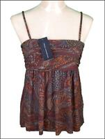 New Women's French Connection Strappy Top Blouse Fcuk New RRP£40 Viscose Stretch