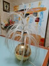 Collectable Vintage Retro Colour Changing Fibre Optic Lamp with Gold Base
