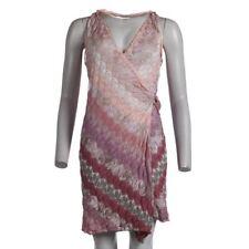 MISSONI Dress Multi-Coloured Wrap Halterneck Sleeveless Size 42 / UK 10 CG 383