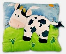 NEW Blue Decorative Pillow - Cow - Plush Velour Imported from Germany