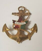 VTG 50's Windsor Ontario Canada Souvenir Anchor Pin nautical pin pinback