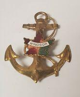VTG 50's Windsor Ontario Canada Souvenir Anchor Pin nautical pin pinback