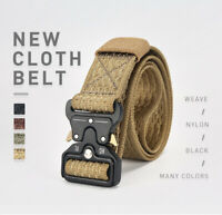 Men Military Belt Tactical Army Hunting Outdoor Waistband Nylon Mens Training Be