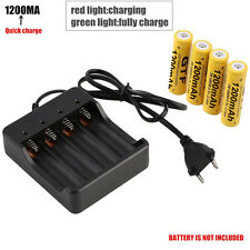 Portable 4Slots EU Plug 18650 Li-ion Battery AC Smart Charger With LED Indicator