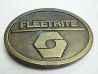 Brass FLEETRITE Oval Belt Buckle