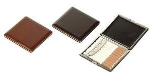 Portasigarette cigarette case metallo pelle ultrapiatto sigarette Lubinski N545