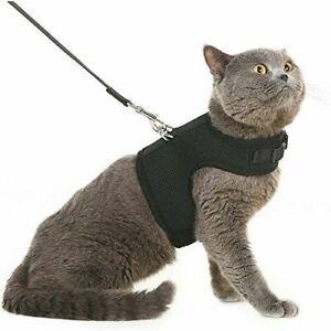 Escape Proof Cat Harness & Leash Adjustable Best For Walking Black Camo SM M L