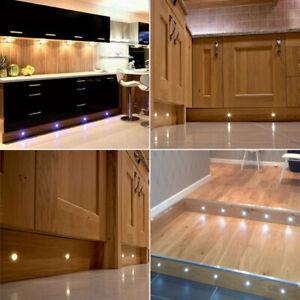 60MM LED DECK LIGHTS DECKING KITCHEN PLINTH WHITE WARM GARDEN OUTDOOR LIGHTING