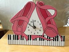 WALL CLOCK Child's Room, Dance Studio, Playroom~BALLET SLIPPERS & PIANO KEYBOARD