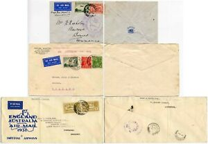 FIRST FLIGHTS 1931 Australia Holland Wales 3 Covers