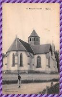 Postkarte - Mailly le camp - die kirche