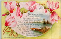 Vintage Early 1900's G.K. Prince Divided Back Flowered Birthday Postcard UNUSED