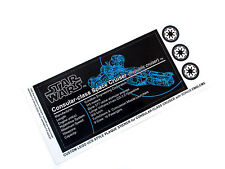 CUSTOM UCS STYLE PLAQUE STICKERS for Lego 7665 CONSULAR CLASS SPACE CRUISER ,etc
