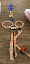 Thomas Train set Wooden Learning Curve lot track bridge tunnel sodor station