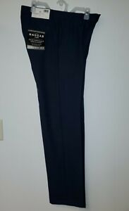 Haggar H26 Mens Performance 4 Way Stretch Straight Fit Trouser Pants Navy 40x30