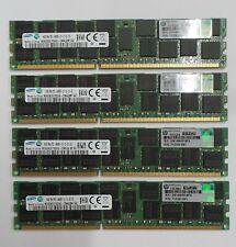 64GB KIT (4 X 16GB) HP SAMSUNG PC3-14900R 712383-081 Server RAM ECC DDR3 1866