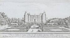 Eau-forte, Israël Silvestre (1621-1691) Vue du Château de Lésigny