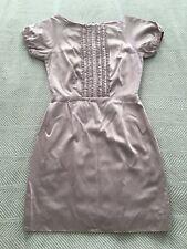 Beautiful Dusty Pink Shiny Ruffle Front  Short Sleeve Dress (No tag, Size 6-8?)