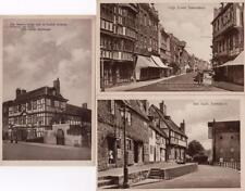 3 Tewkesbury High Street Mill Bank John Halifax unused pcs Abbey Studio Ref D242