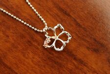 Hawaiian Sterling Silver 2 Tone Outline Hibiscus Flower Pendant Necklace SP80636