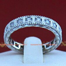 Genuine Solid 9ct White Gold Engagement Wedding Eternity Rings Simulated Diamond