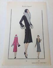 Pochoir - 1930 - Planche 191 du Tailleur élégant - mode - fashion