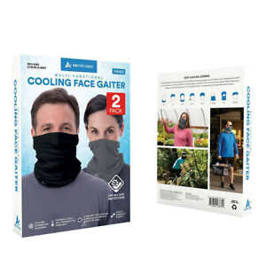 Arctic Cool Cooling Face Gaiter UPF 50+ Sun Protection 2-Pack