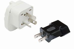 SET 2x Reisestecker Adapter für China - Typ A + Typ I mit Schutzkontakt