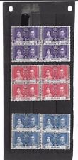 British Colony Royalty Stamp Blocks
