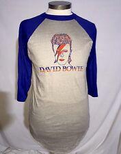 Vtg David Bowie Alladin Sane Deadstock Shirt Raglan 70s 80s L Large Rare