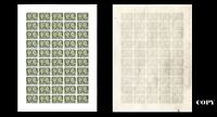CANADA 1897,- Queen Victoria Jubilee 5$ Olive Green  #65 Largue Sheet Of 40,COPY