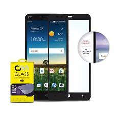 BLACK FULL COVERAGE TEMPER GLASS PHONE SCREEN PROTECTOR FOR ZTE BLADE X MAX