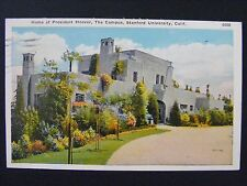 Stanford University California Campus President Hoover Home WB Postcard 1915-30