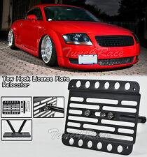 For 98-06 Audi TT MK1 8N Front Bumper Tow Hook License Plate Bracket Relocator