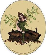 JACQUELINE COLLEN- TARROLLY Green Leaf Fairy Sticker NEW OFFICIAL MERCHANDISE
