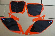 FLU  BLACK NUMBER PLATE  BACKGROUNDS HONDA 2002-2008  CR125 CR125R  CR250 CR250R