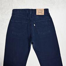 Vintage LEVIS 551 Straight Leg Jeans High Rise Size W32 L31 Unisex Blue Denim