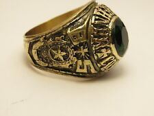 G40, RING , THE UNITED STATES , 1968 MANHATTAN COLLEGE ,school ring ,size   9