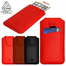New Leather Pouch Pull Tab Case Protective Cover Genuine Cover for Mobile Phones
