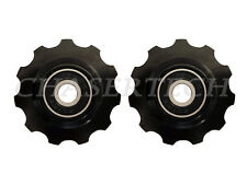 New MTB Road Bike Derailleur Jockey Wheel Solid Pulley Shimano 11T Black