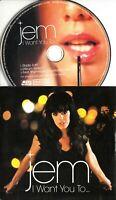 JEM I Want You To... 2009 UK 3-trk promo CD + 3 bonus promo CDs / DVDs