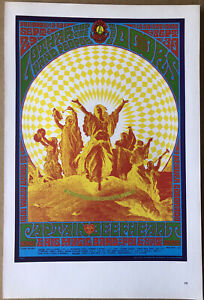 """Doors Captain Beefheart & Sun Ra - Two Sided Vintage 1967 Rock Poster 15""""x10"""" 29"""