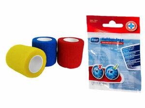 SPORT Gesundheit - Binden - Bandagen 3 ROLLEN selbstklebend & elastisch 5cm x 4m