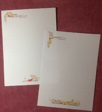 New! Big Hello Playful Children Lined Writing Paper Set with matching envelopes