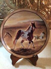 Danbury Mint Desert King - Wild And Free Ltd Ed Paint Horse Plate Nancy Glazier